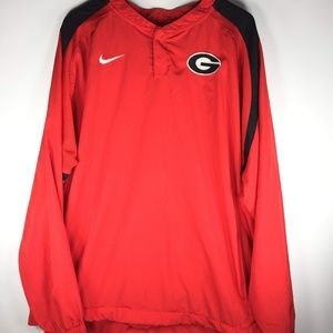 Nike Georgia Lightweight Pullover Jacket 2XL Red